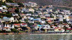 Fish Hoek houses as seen from the sea (False Bay) - Cape Town (photo by Maria Wagener). #Fishhoek #FalseBay