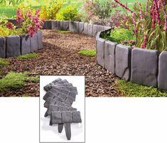Interlocking Faux Cobble Grey Stone Landscaping Garden Border Decor (Set of 10)  #CobleStone #Garden #GardenBorder #Interlocking #Faux #GreyStone #Landscaping #Border #Yard #GardenDecor #YardDecor