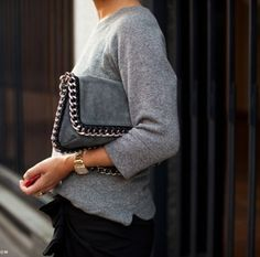 Casual + Chic + Classic - Street style in Black+Grey