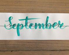 Hello September #september2018#ecolinebrushpen #brushletteren#brushlettering#practiseeveryday #lettering#artlettering#letteren#handschrift… Hello September, Instagram, Drawings, Hand Lettering, Sketches, Draw, Drawing, Pictures, Paintings