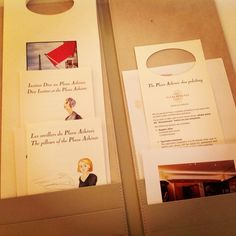 One of the great joys of staying at Hotel Plaza Athenee, Paris is turndown service and the presentation of the pillow menu plus John Lobb shoe care service.