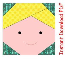 Make this beautiful boy PDF quilt blocks pattern! This PDF boy quilt pattern is 3(7.6 cm) square block .Easy to enlarge if needed. Youll