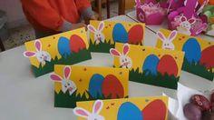 Πασχαλινές κάρτες Easter Art, Easter Crafts For Kids, Easter Bunny, Easter Flower Arrangements, Easter Flowers, Decor Crafts, Diy And Crafts, Toddler Learning Activities, Spring Crafts