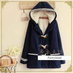 Buy 'Fairyland – Striped Trim Toggle Hooded Coat' with Free International Shipping at YesStyle.com. Browse and shop for thousands of Asian fashion items from China and more!