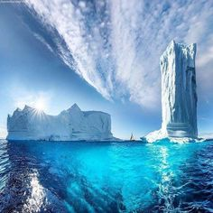 Ice tower in Greenland