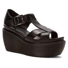 Chunky cross-strap platform sandal Dr. Martens, Adaya black Schwarze  Keilsandalen, Plateausandalen dc448bea92