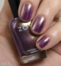 """""""Daul"""" Review & Swatches: ZOYA Diva Metallic Collection for NYFW Fall 2012 