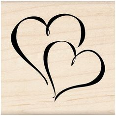 Personalize your Valentine cards with hearts, using this Inkadinkado® Wood Mounted Stamp. This rubber stamp is made of lightweight wood, foam, and red rubber to offer you prominent impressions. Open Heart Tattoo, Two Hearts Tattoo, Small Heart Tattoos, Tattoos Skull, Name Tattoos, Star Tattoos, Brown Tattoos, Garter Tattoos, Rosary Tattoos