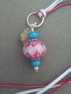 Pink dreams, girly lampwork bead