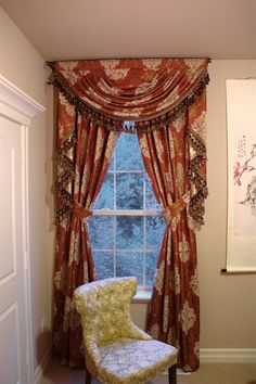 Turandot swag valances curtain drapes  Indulge yourself with this decorative and ornate swag valance curtains in your living room, louge or anywhere you desire to place it. Extravagant and classic, the fabric is to die for. Splendid looking on both the front and the back, Celuce curtain sets not only bring royal and romantic touch inside your home, they also create a gorgeous curb appeal that will make all your neighbors jealous.