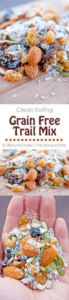 Clean Eating Recipes   Trail Mix Recipe   Grain Free Recipe   Healthy Snacks