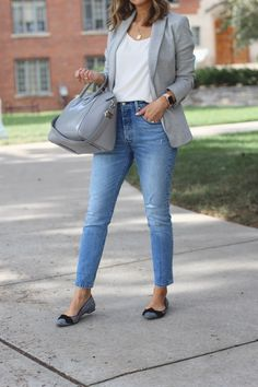 Tired of wearing the same skinny jeans outfits every single day?Upgrade your go-to skinny jeans outfits with chic styling tips that never go out of style. Casual Skirt Outfits, Blazer Outfits, Business Casual Outfits, Office Outfits, Mode Outfits, Jean Outfits, Chic Outfits, Trendy Outfits, Fashion Outfits