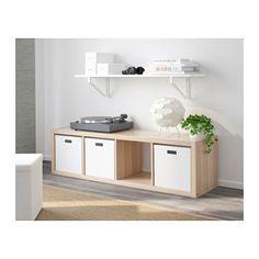 KALLAX Étagère, effet chêne blanchi effet chêne blanchi 42x147 cm