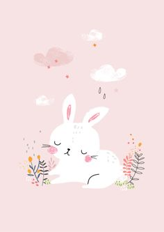 Beautiful bunny illustration.