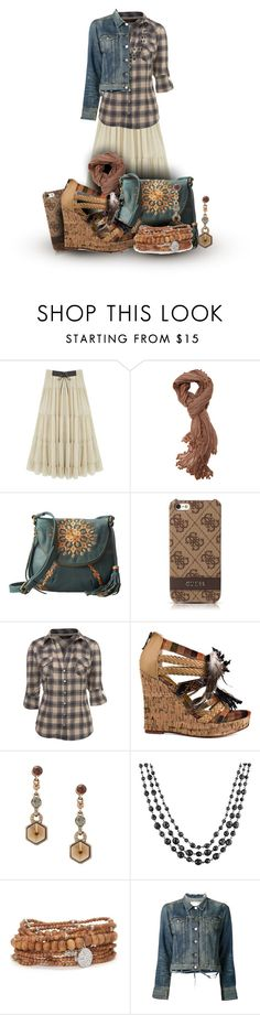 """""""Boho"""" by modestyme ❤ liked on Polyvore featuring Walnut Melbourne, Lucky Brand, GUESS, Miss Selfridge, Two Lips, Jon Richard, 1928, Lisa Freede and rag & bone"""