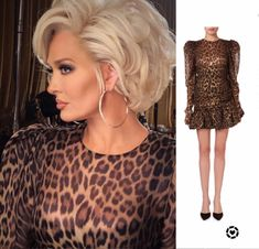 Curly Hair Styles Easy, Short Hair Styles, Blonde Color, Hair Color, Beautiful Old Woman, Haircut And Color, Leopard Dress, Layered Hair, Pixie Haircut