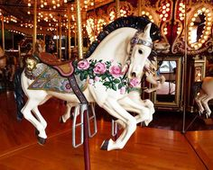 Seattle Waterfront Carousel I have ridden this exact horse every year since I was probably about 31 now. Seattle Tourist Attractions, Seattle Waterfront, Downtown Seattle, Merry Go Round Carousel, Carosel Horse, Horse Dance, Carrousel, Painted Pony, Beautiful Horses