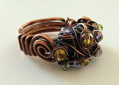 copper wire ring.