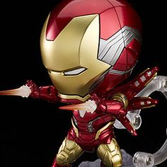 """ From ""Avengers: Endgame"" comes a DX Nendoroid of Iron Man Mark The Nendoroid features full articulation and metallic paintwork, making for an impressively detailed recreation. Chibi Marvel, Iron Man Suit, Avengers Wallpaper, Captain America, Poses, Ali, Capitan America"