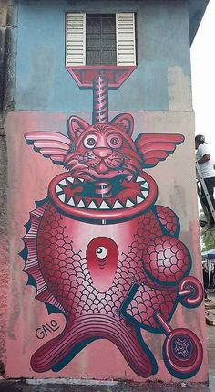 Galvani Galo in São Paulo, Brazil Murals Street Art, Graffiti Murals, Mural Art, Street Art Graffiti, Best Street Art, 3d Street Art, Urban Painting, Stencil Art, Outdoor Art