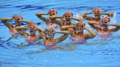 The Canadian synchronised swimming team