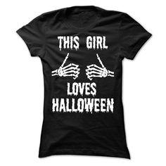 (Tshirt Perfect Sale) this girl love halloween Discount Hot Hoodies Tee Shirts