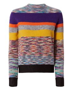 Missoni Striped Crew Neck Knit: Colorful striped knit makes for a playful layer…