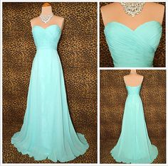 2014 Hot Sale A-Line Sweetheart Lace up Chiffon Long Prom Dress BridesmaidEveing dress prom Long Evening Gowns Long Prom Dresses For 2014$98.00