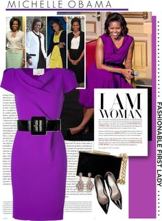 """A Tribute to Fashionable First Ladies: Michelle Obama"" by houseofhauteness ❤ liked on Polyvore"
