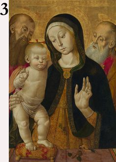 Madonna and Child with Two Hermit Saints, Bernardino Fungai, early 1480s. The J. Paul Getty Museum
