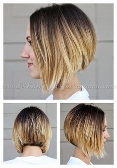 bob+hairstyles,+bob+haircut,+short+hairstyles+-+ombre+A+line+bob+haircut