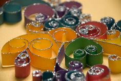 Quilling with glitter