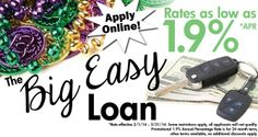 "Consumers Professional Credit Union ""Big Easy"" Loan promotion!"