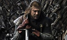 "Eddard Stark - Lord of Winterfell, Warden of the North, and Hand of the King. The Stark words are ""Winter is Coming""."