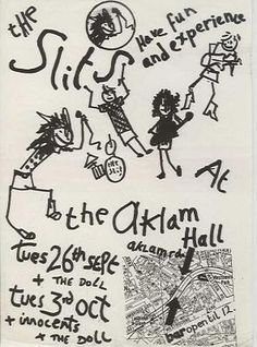 The Slits at the Acklam Hall, London. September/ October 1978.