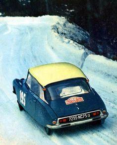 """Citroën DS """"It was a surprisingly good rally car. Rally Car, Car Car, Vintage Racing, Vintage Cars, Rallye Automobile, Psa Peugeot Citroen, Citroen Sport, Cool Cars, Race Cars"""