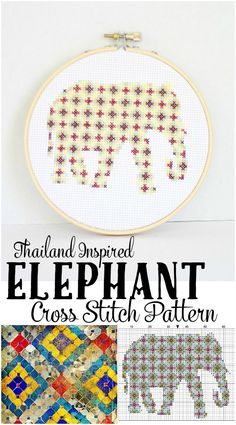 Thailand inspired cross stitch patterns- all free downloads!