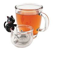 Joie Meow Cat Loose Tea Leaf Tea Strainer and Herbal Infuser, Stainless Steel, Assorted Black and White >>> Hurry! Check out this great product : Cat mug Tea Strainer, Tea Infuser, Infused Water Bottle, Cat Mug, Perfect Cup, Cat Jewelry, Loose Leaf Tea, Cat Lover Gifts, Cat Lovers
