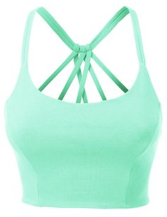 Womens Fitted Halter Cut Out Back Bralette Crop Top with Stretch