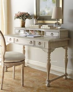 antique white desk with hutch - Google Search