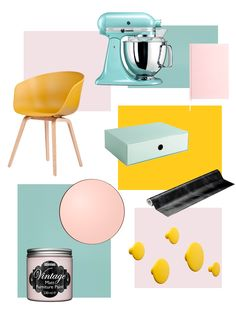 #blue #yellow #pink #interior #livingroom #kitchen #chair #colors #color #marble