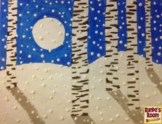 Runde's Room: Friday Art Feature - Snowy Birch Trees