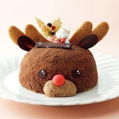 トナカイをかたどった、かわいらしいクリスマスケーキ。【新宿店23・24・25日お渡し】ノエル トナカイ