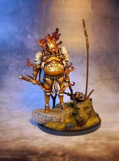 Gold Smoke Knight painted by Sven