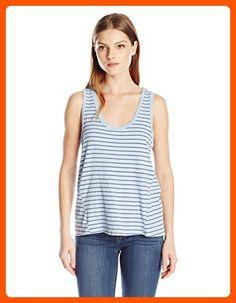 VELVET BY GRAHAM & SPENCER Women's Stripe Cotton Tank, Cloud, X-Large - All about women (*Amazon Partner-Link)