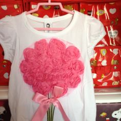 White Top with Rose 3-4 yrs S$15.90