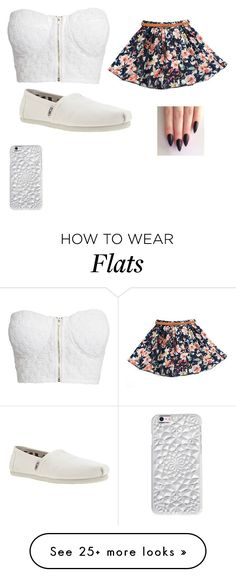 """Idk summer in winter"" by gabbster1233 on Polyvore featuring NLY Trend, TOMS and Felony Case"
