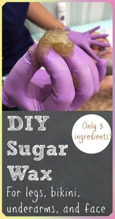 to Make Sugar Wax at Home With Only 3 Ingredients : DIY Sugar Wax Recipe Why shave when you can make your own sugar wax right at home?Why shave when you can make your own sugar wax right at home? Sugar Wax Recipe, Homemade Sugar Wax, Homemade Syrup, Homemade Soaps, Eczema Remedies, Hair Loss Remedies, Health Remedies, Natural Remedies, Home Made Wax