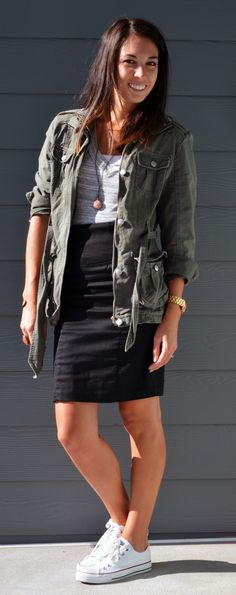 Casual pencil skirt