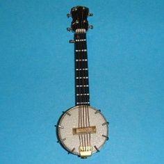 Banjo en bois - 7861A3 1/12ème #maisondepoupées #dollhouse #banjo #instrument #musique #music #miniatures #miniature #bois